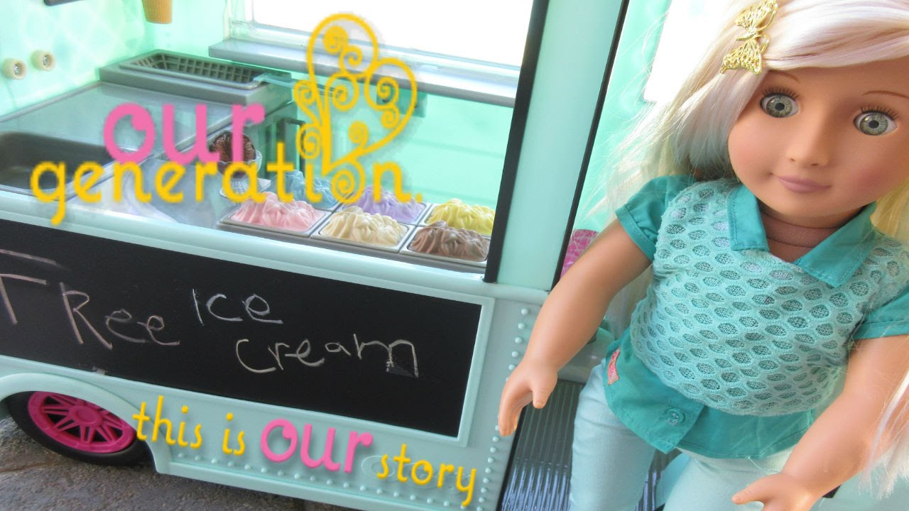 Our Generation Ice Cream Truck Amp Doll Review Youtube