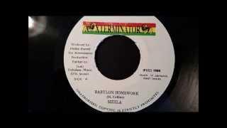 "Sizzla - Babylon Homework - Xterminator 7"" w/ Version (Jah Blessing Riddim)"