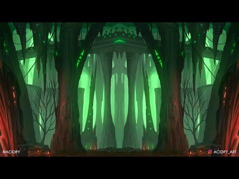 Sci-Fi Fantasy Landscape Digital Painting / Photoshop Tutorial Timelapse / Symmetry Concept Art 2020