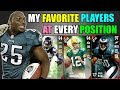 MY FAVORITE PLAYERS AT EVERY POSITION! Madden 17 Ultimate Team Squad Builder