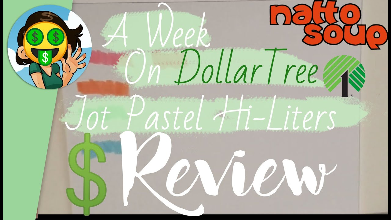 🤑Dollar Tree Review🤑 Jot Pastel Highlighters