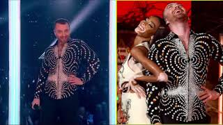 Sam Smith and Calvin Harris Perform 'Promises' at Brit Awards 2019 | (Pitch and Rhythm) Video