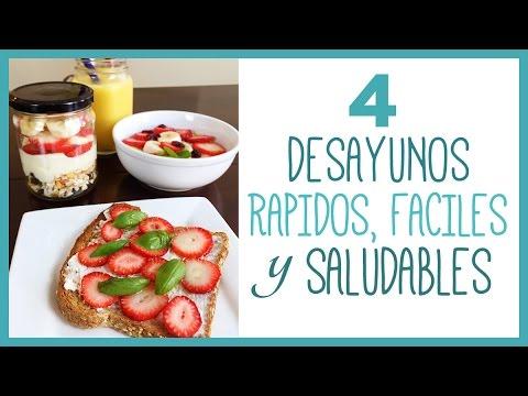 4 Ideas para preparar un Desayuno rápido y saludable - YouTube