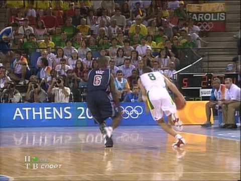 Olimpic Athens 2004 - Lithuania vs USA [Rusų Komentatoriai] HQ