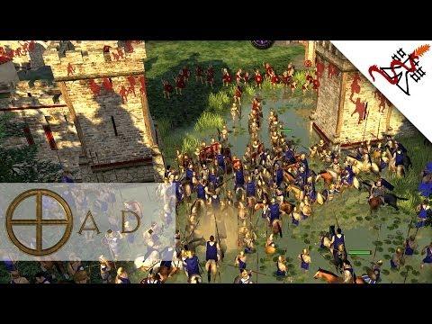 0 A.D. - Multiplayer Match | 1vs1 | Macedonians VS Romans | Deathmatch Alpha 15 Osiris [1080p/HD]