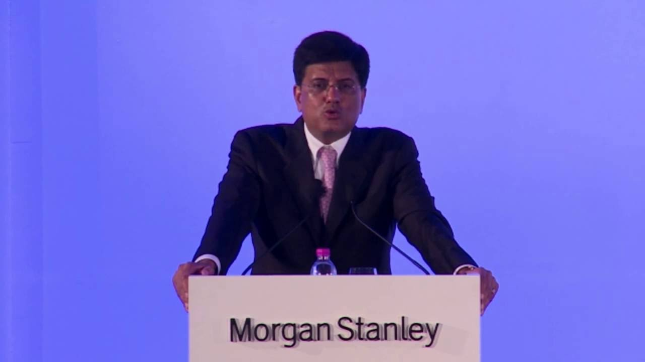 Speaking on Electrifying India at Morgan Stanley Annual India Summit in  Mumbai (02 06 16)