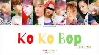 EXO (엑소) - Ko Ko Bop (9 Member Ver.) [Colour Coded Lyrics Ha…