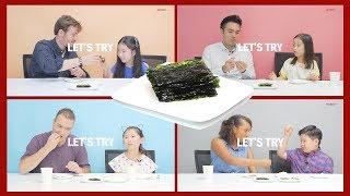 I CHUNGDAHM YOU_한국음식 korean food '김' 을 처음 접한 외국인들의 반응은? ( seaweed chips , seaweed snack mukbang)