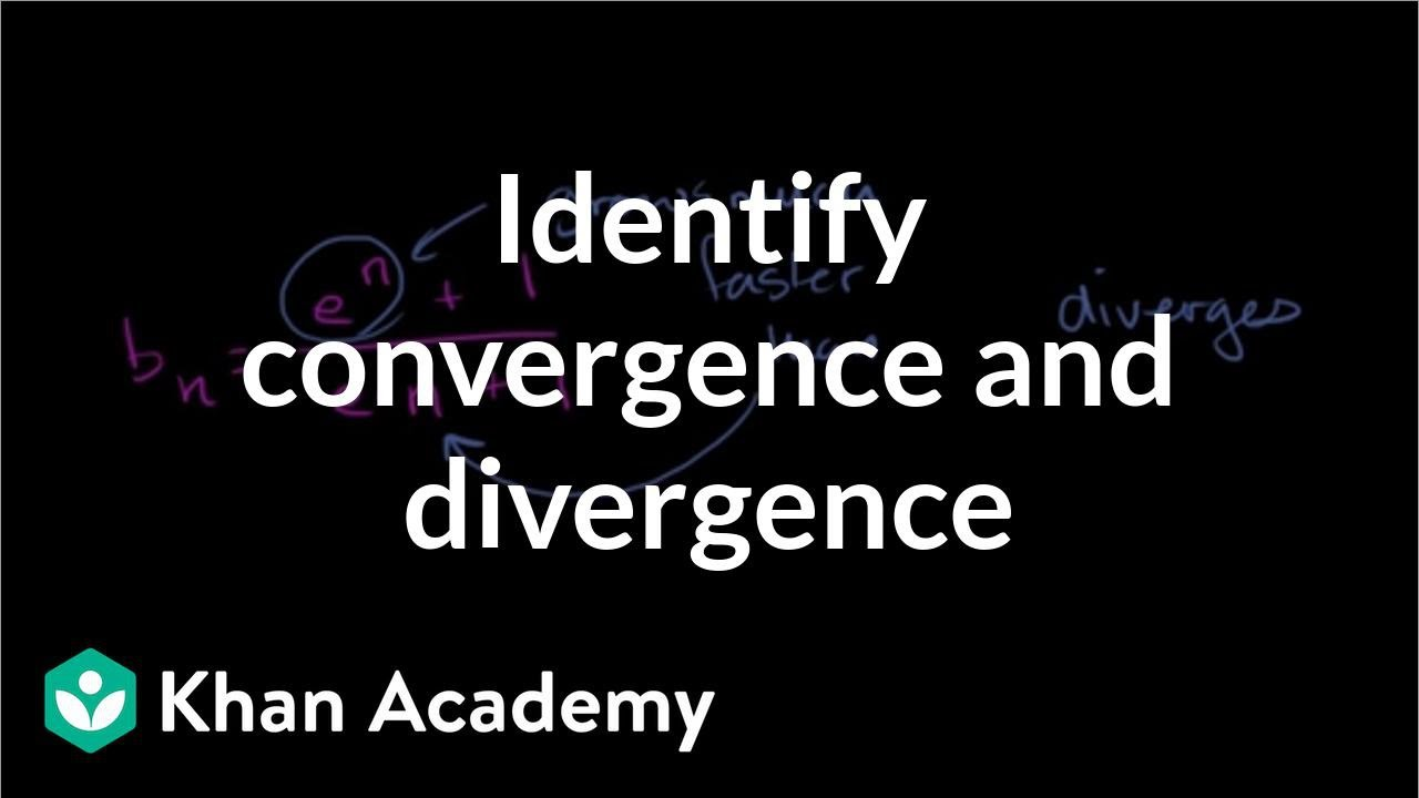 Worked example: sequence convergence/divergence (video