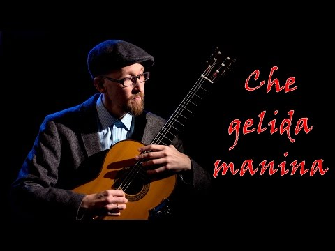 My favourite aria 'Che gelida manina' on classical guitar +Free PDF sheet music