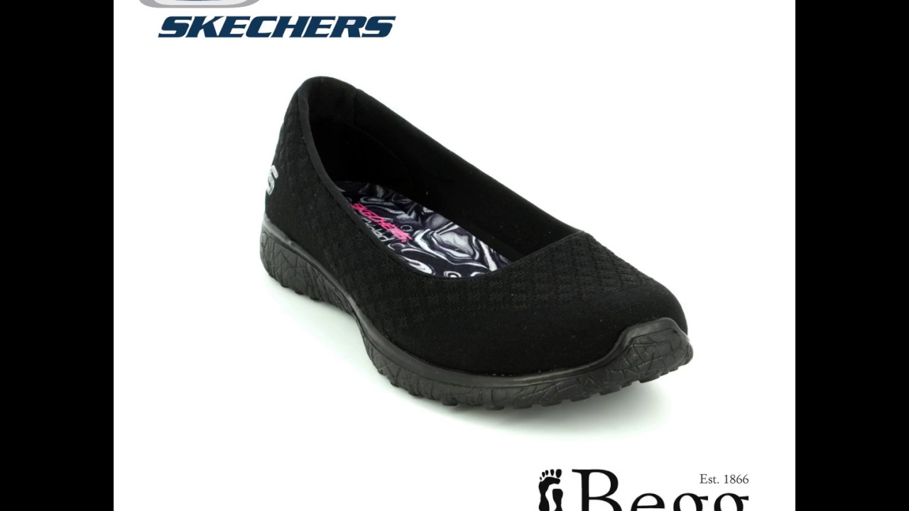 sufrir Metropolitano Gracia  Skechers Microburst 23312 BBK Black pumps - YouTube