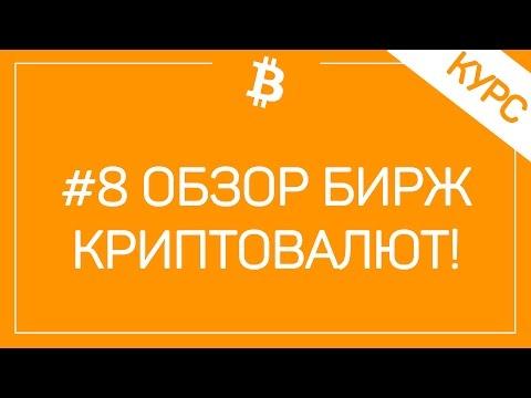 # Урок 8. Как торговать биткоинами на бирже. Обзор и список биткоин бирж.