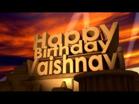 Happy Birthday Vaishnavi