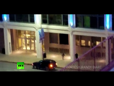 Dallas Shootout: Gunman shooting down police officer caught on camera (GRAPHIC FULL VIDEO)