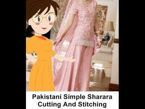 Pakistani Simple Sharara Cutting And Stitching - Tailoring With Usha thumbnail