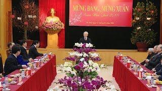 Tổng Bí thư Nguyễn Phú Trọng gặp mặt, chúc Tết cán bộ, công chức, người lao động Văn phòng TW Đảng
