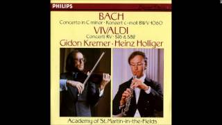 J.S. Bach Concerto for Violin and Oboe in C  minor BWV 1060, Kremer Holliger