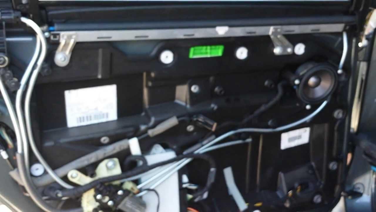03 Bmw 745Li Inner Door Panel Parts Diagram Privacy Shade  YouTube