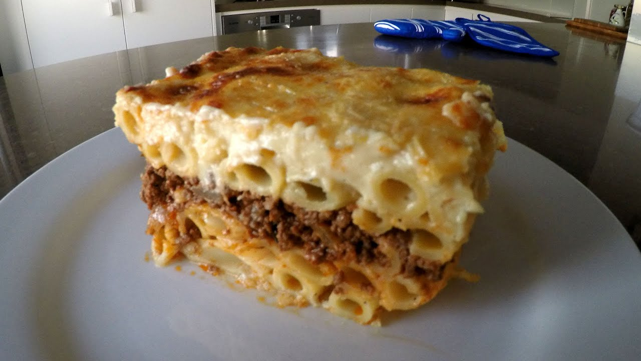 How to make Pastitsio (Greek Pasta Bake) - YouTube