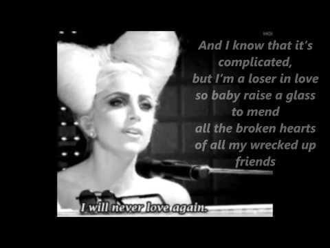 Lady Gaga - Speechless [acoustic] - lyrics
