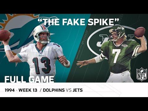"""Marino Fake Spike"" Miami Dolphins vs. New York Jets (Week 13, 1994)  | NFL Full Game"