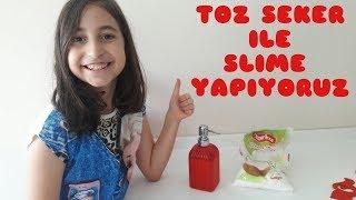 Sıvı El Sabunu ve Toz Şekerle Organik Slime Yapıyoruz