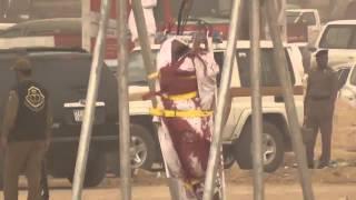 صلب سوداني قتل امرأة وفعل بها الفاحشة في الرياض
