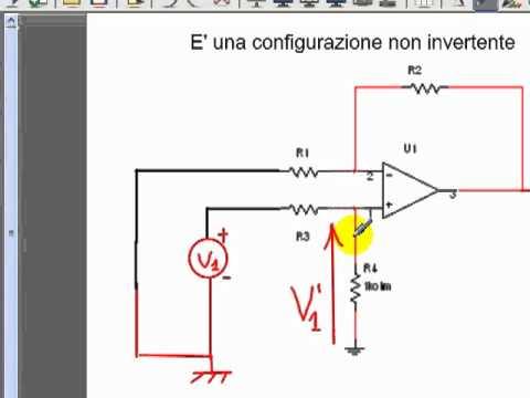 Amplificatore differenziale con operazionale