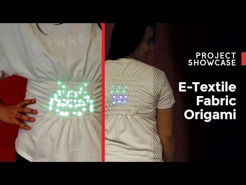 SparkFun E-Textile Fabric Origami!