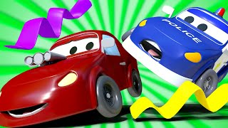 Kids car cartoon -  Dragon's Tail! - Car City ! Cars and Trucks Cartoon for kids