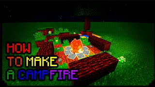 MCPE 1.2 | How to make a Campfire! | Armor Stand creation