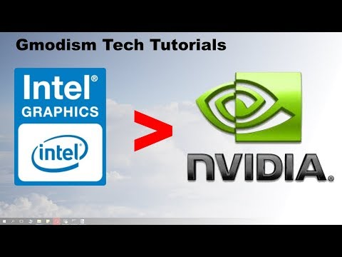 ✅ How to switch from Intel HD graphics to dedicated Nvidia graphics card.