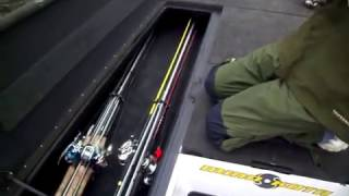 Rod Select 360 in a storage locker on a bass boat- Made in the USA !-