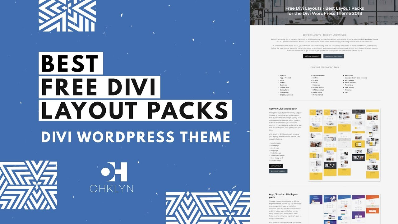 Free Divi Layouts - How to Install Layout Pack Tutorial for Divi 3 1 By  Elegant Themes [2019]