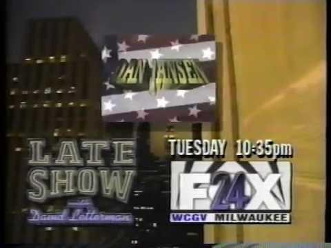 WCGV - David Letterman Dan Jansen promo [12 sec] (1993)