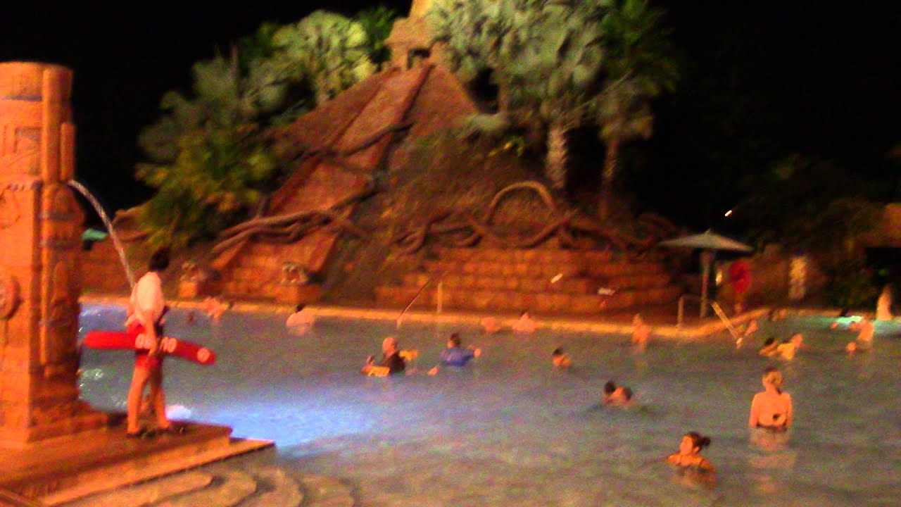 Coronado Springs Resort Swimming Pool Night - Walt