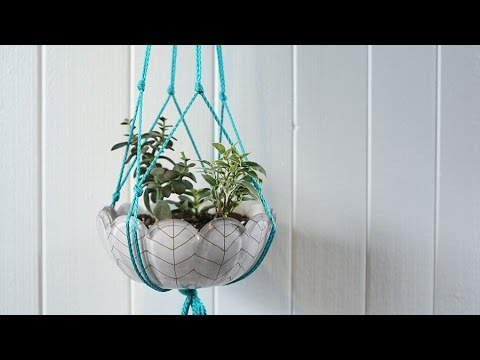 Make A Macram 233 Plant Hanger In Minutes Youtube