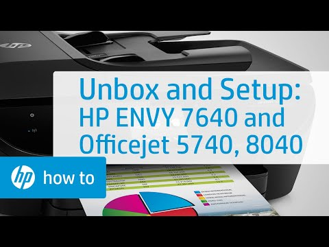 Setting Up and Installing the HP ENVY 7640 and Officejet 5740, 8040 Printers   HP