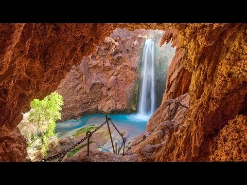 Waterfalls of the World (Nature Sounds Only) 1 HR SlowTV Healing Video 1080p