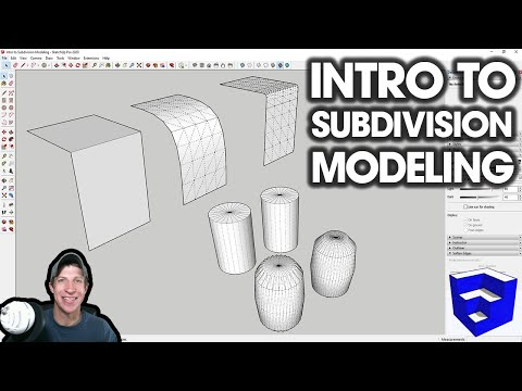 Intro To SUBDIVISION MODELING In SketchUp