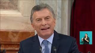 Discurso completo de Macri en la Apertura de Sesiones Ordinarias del Congreso