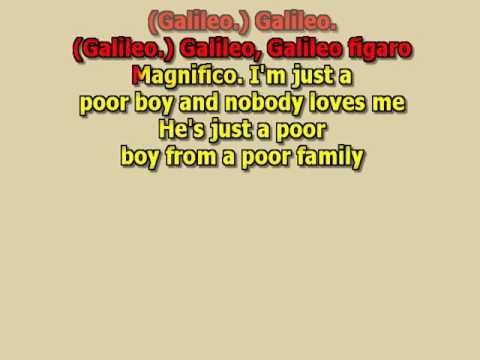bohemian rhapsody The Queen best karaoke instrumental lyrics
