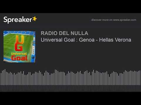 Universal Goal : Genoa - Hellas Verona
