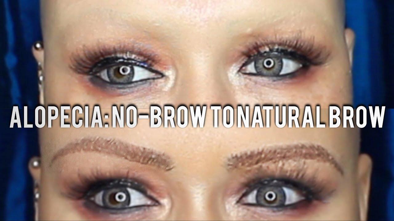 Alopecia Makeup Brow Tutorial Create A Natural Hairstroke