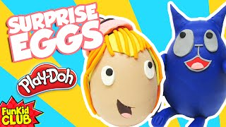 peg cat 2 play doh surprise eggs peg plus cat counting play doh cans