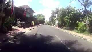 Bali Roadmovie #6 (Panoramic view) cycling through the streets of UBUD