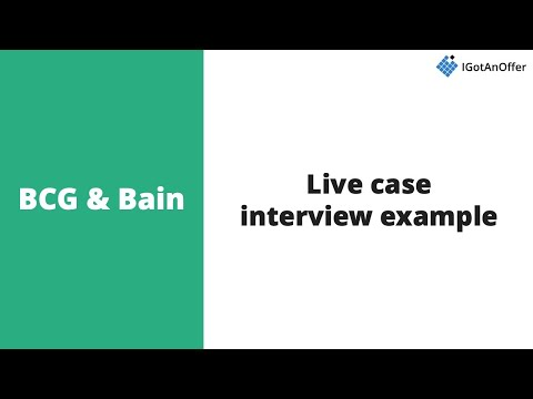 BCG & Bain Live Case Interview Example