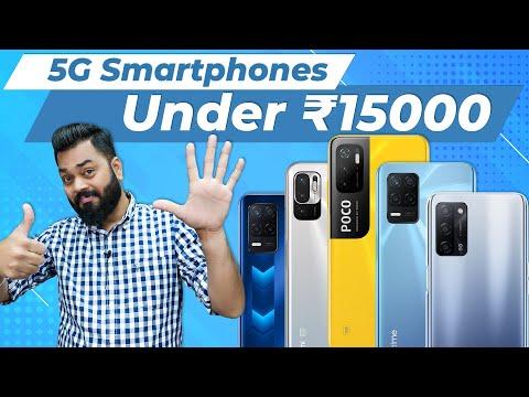 Top 5 Best 5G Mobile Phones Under ₹15000 Budget ⚡ September 2021