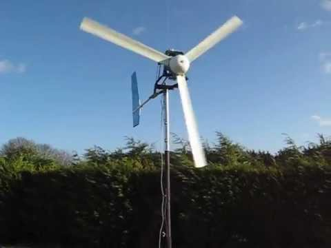 Home Build Wind Turbine Using Car Alternator - YouTube