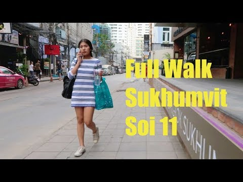 Sukhumvit Soi 11 Walk Around, Bangkok - Aug 2017